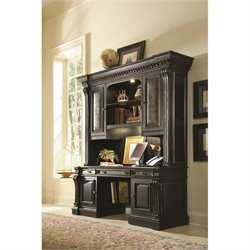 Hooker Furniture Telluride Computer Desk with Hutch in Black