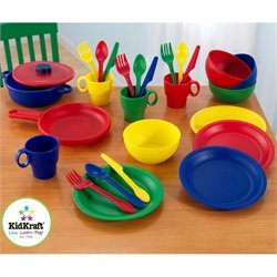 KidKraft 27 Piece Kitchen Dish Play set in Primary