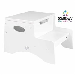 Kidkraft Step 'n Store Step Stool Kids Step Stool in White