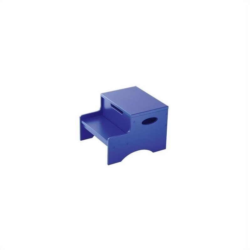 KidKraft Step 'n Store Kids Step Stool in Blue