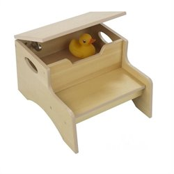 KidKraft Step 'n Store Kids Step Stool in Natural