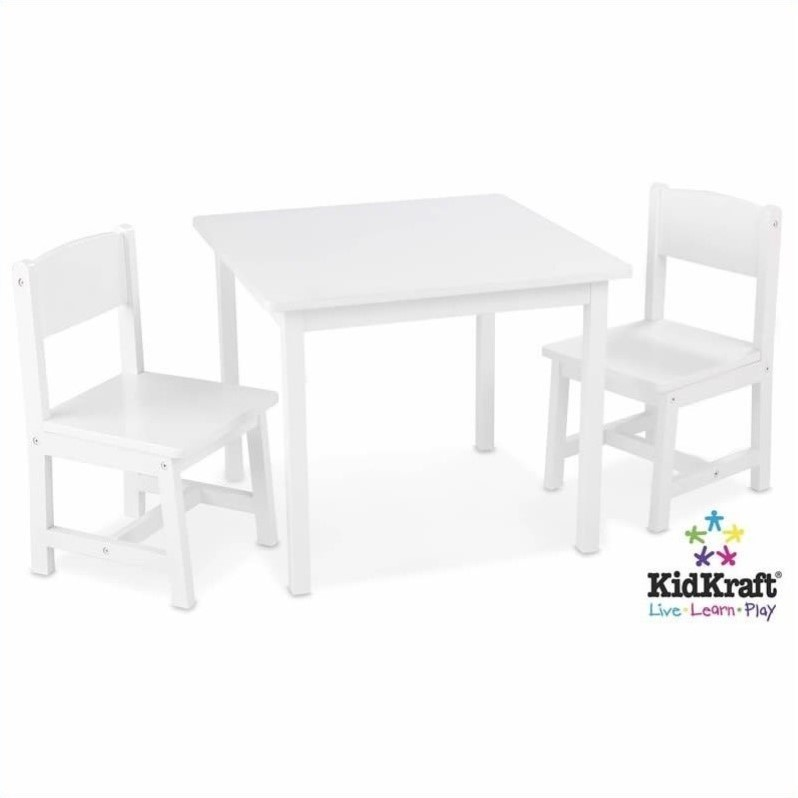 KidKraft Aspen 2-Chair Set in White
