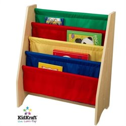 KidKraft Primary Sling Bookshelf 5 Shelves