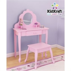 KidKraft Medium Diva Table & Stool in Pink