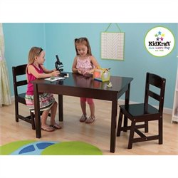 KidKraft Rectangle Table and Chair Set in Espresso