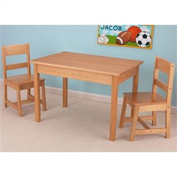 KidKraft Rectangle Table and Chair Set in natural