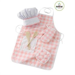 KidKraft Tasty Treats Chef Accessory Set in Pink