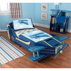 KidKraft Airplane Toddler Bed in Blue