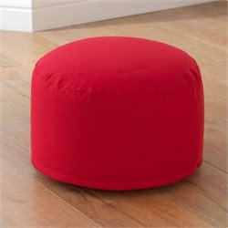 KidKraft Round Pouf in Red