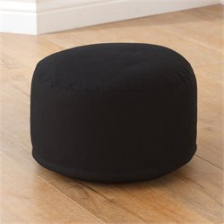 KidKraft Round Pouf in Black