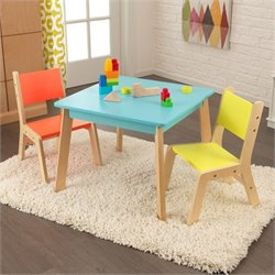 KidKraft Modern Table and 2 Chair Set in Multi-Color