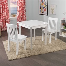 KidKraft Avalon Table and Avalon Chairs Set in White