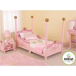KidKraft Princess Girls Toddler Bed in Pink