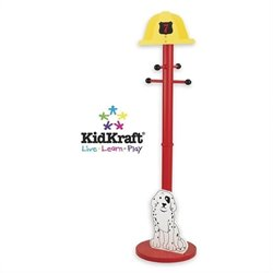 KidKraft Firefighter Standing Coat Rack