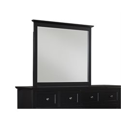 Modus Paragon Beveled Glass Mirror in Black