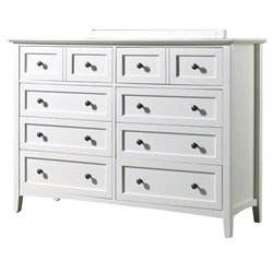 Modus Paragon 8 Drawer Dresser in White