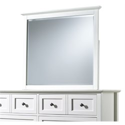Modus Paragon Beveled Glass Mirror in White