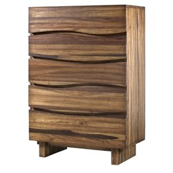 Modus Ocean 5 Drawer Solid Wood Chest in Natural Sengon