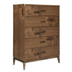 Modus Adler 5 Drawer Chest in Natural Walnut