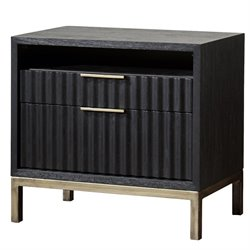 Modus Kentfield 2 Drawer Nightstand in Transparent Black Mahogany