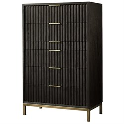 Modus Kentfield 6 Drawer Chest in Transparent Black Mahogany