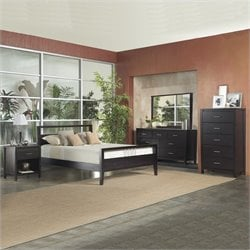 Modus Nevis Espresso Wood Platform Bed 3 Piece Bedroom Set