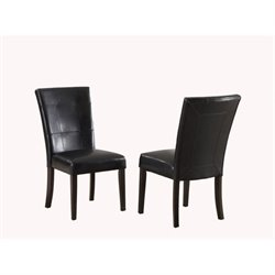 Modus Bossa Black Leatherette Parsons Dining Chair (Set of 2)