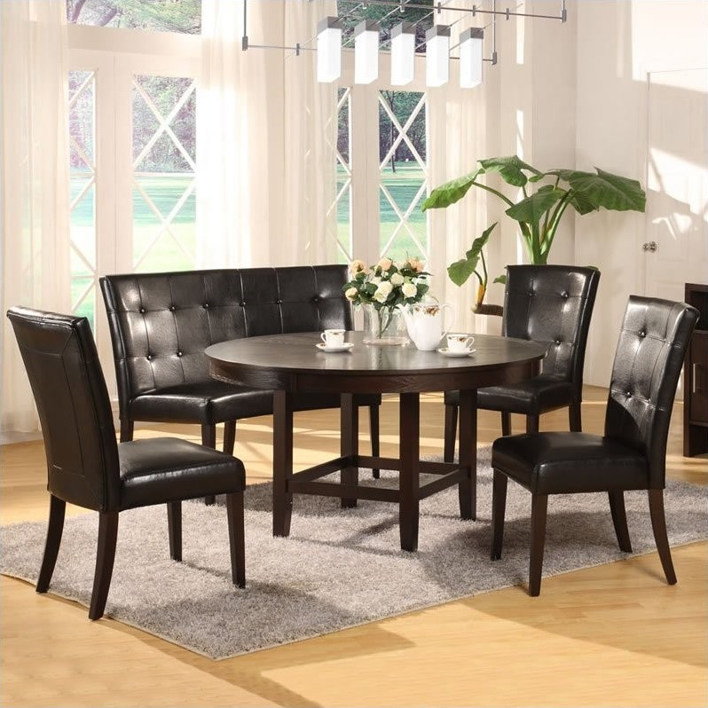 Modus Bossa 5 Piece 54 Inch Round Dining Table Set
