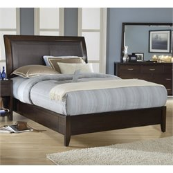 Modus Furniture Urban Loft Upholstered Storage Platform Bed in Brown