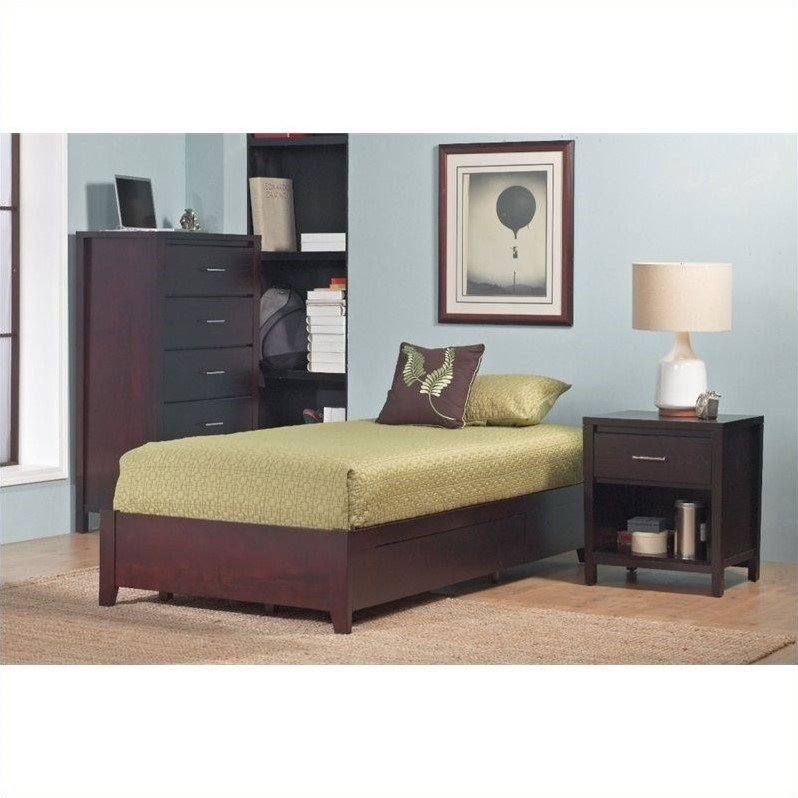 Modus Simple Platform Storage Bed in Espresso