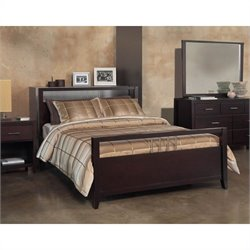 Modus Furniture Nevis Platform Storage Bed in Espresso Bedroom Set