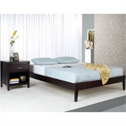 Modus Furniture Nevis Simple Platform Bed in Espresso Bedroom Set