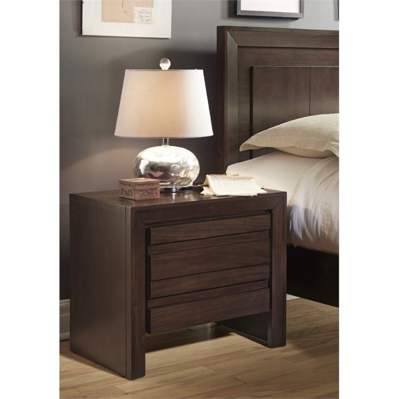 Modus Element Nightstand in Chocolate Brown