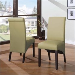 Modus Cosmo Sleigh Back Dining Chair in Kiwi (Set of 2)