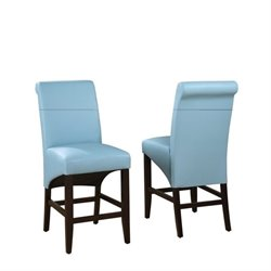 Modus Cosmo Sleigh Back Stool in Sky (Set of 2)