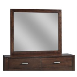 Modus Furniture Riva Mirror in Chocolate Brown
