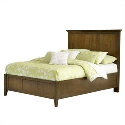Modus Furniture Paragon Panel Bed in Truffle