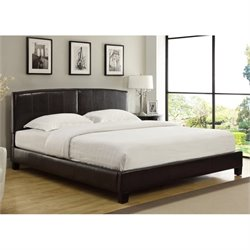 Modus Furniture Upholstered Arch Platform Bed in Chocolate