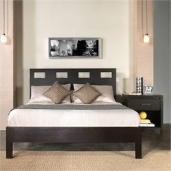 Modus Furniture Nevis Riva Profile Platform Bed 3 Piece Bedroom Set in Espresso