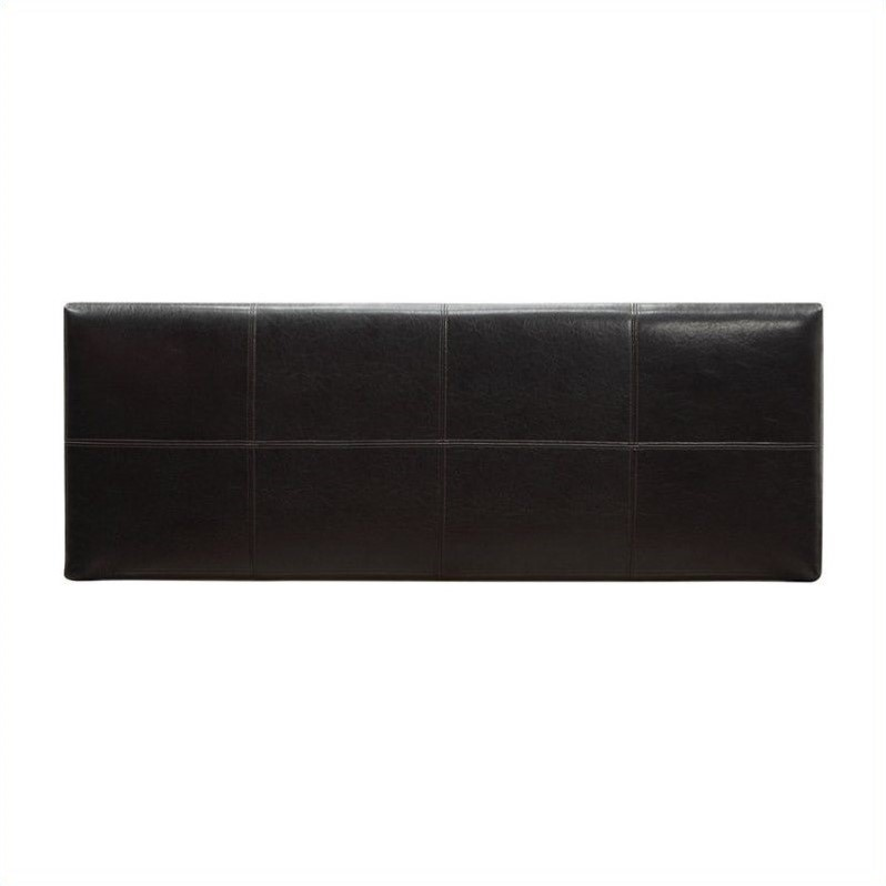 Modus Furniture Ledge Square Panel Headboard in Brown