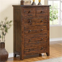 Modus Furniture Cally Chest in Medium Brown