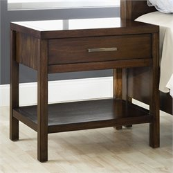 Modus Furniture Uptown Nightstand in Medium Brown