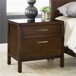 Modus Furniture Uptown Charging Station Nightstand in Medium Brown