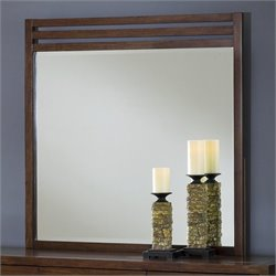 Modus Furniture Uptown Mirror in Medium Brown
