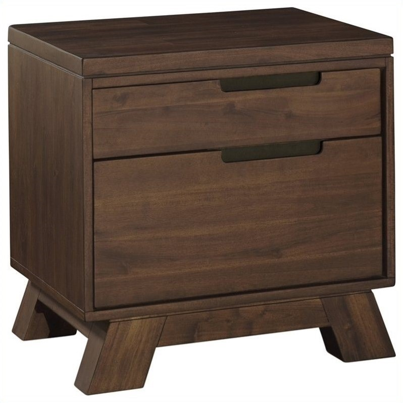 Modus Furniture Portland Nightstand In Walnut 7z4881