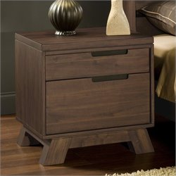 Modus Furniture Portland Nightstand in Walnut