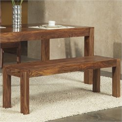 Modus Furniture Genus Dining Bench in Medium Brown