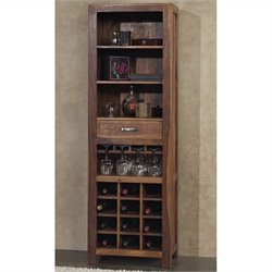 Modus Furniture Genus Wine Tower in Medium Brown
