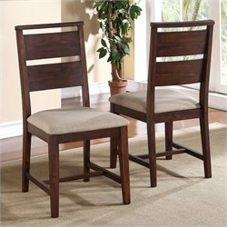 Modus Furniture Portland Dining Chair in Walnut (Set of 2)