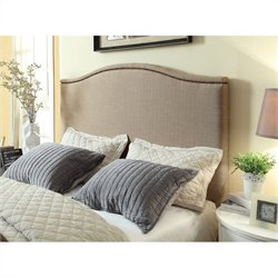 Modus Geneva Camelback Panel Headboard in Beige